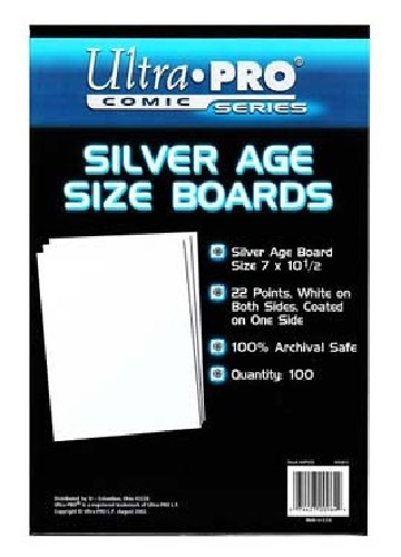 "Ultra Pro: Silver Comic Backing Boards - (7"" x 10.5"")"