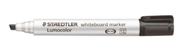 Staedtler 351 Whiteboard Chisel Tip Marker - Black