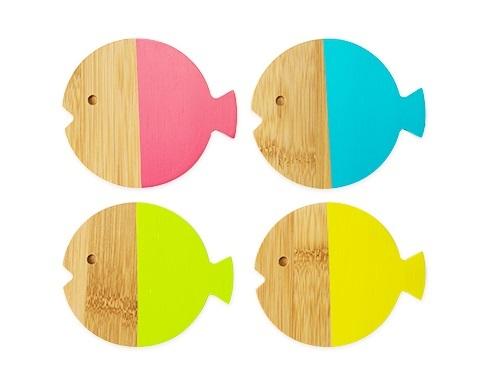 TrueZoo: Fish Coaster Set - (Set of 4)