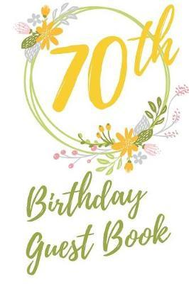 70th Birthday Guest Book by Big Birthday Guest Books image