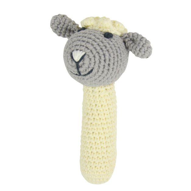 Rattle: Crochet Rattle - Little Lamb