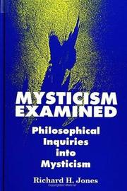 Mysticism Examined by Richard H Jones image