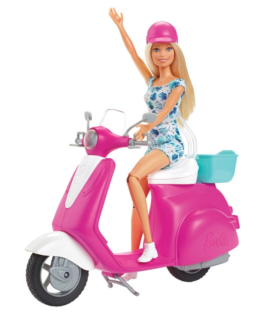 Barbie - Doll & Scooter Playset