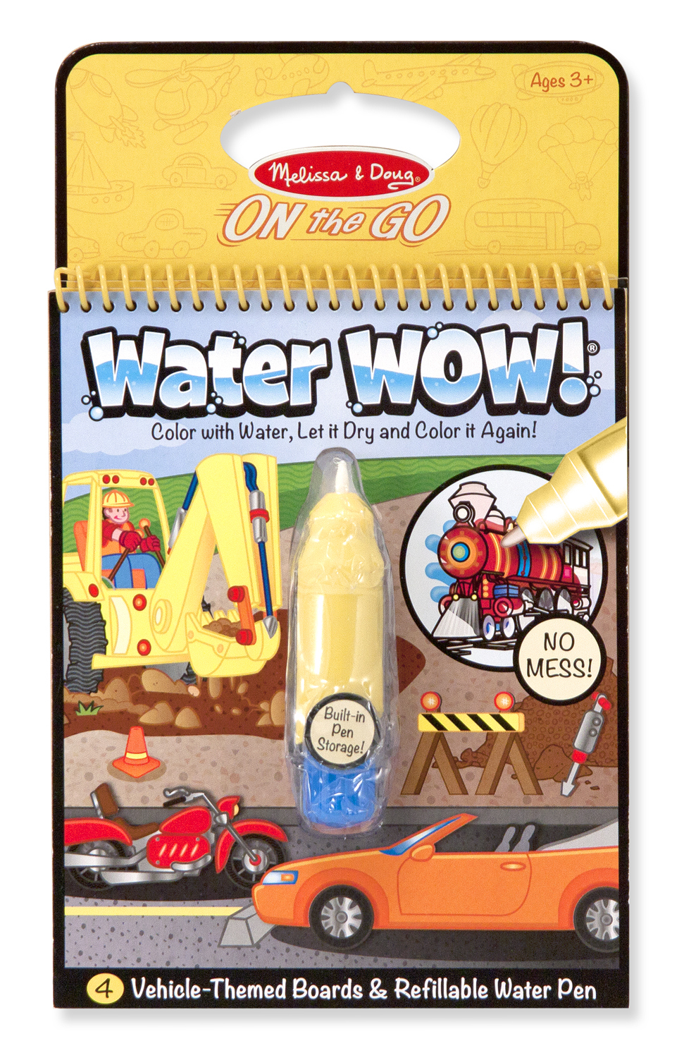 Melissa & Doug: Water Wow! Vehicles Travel Activity Book image