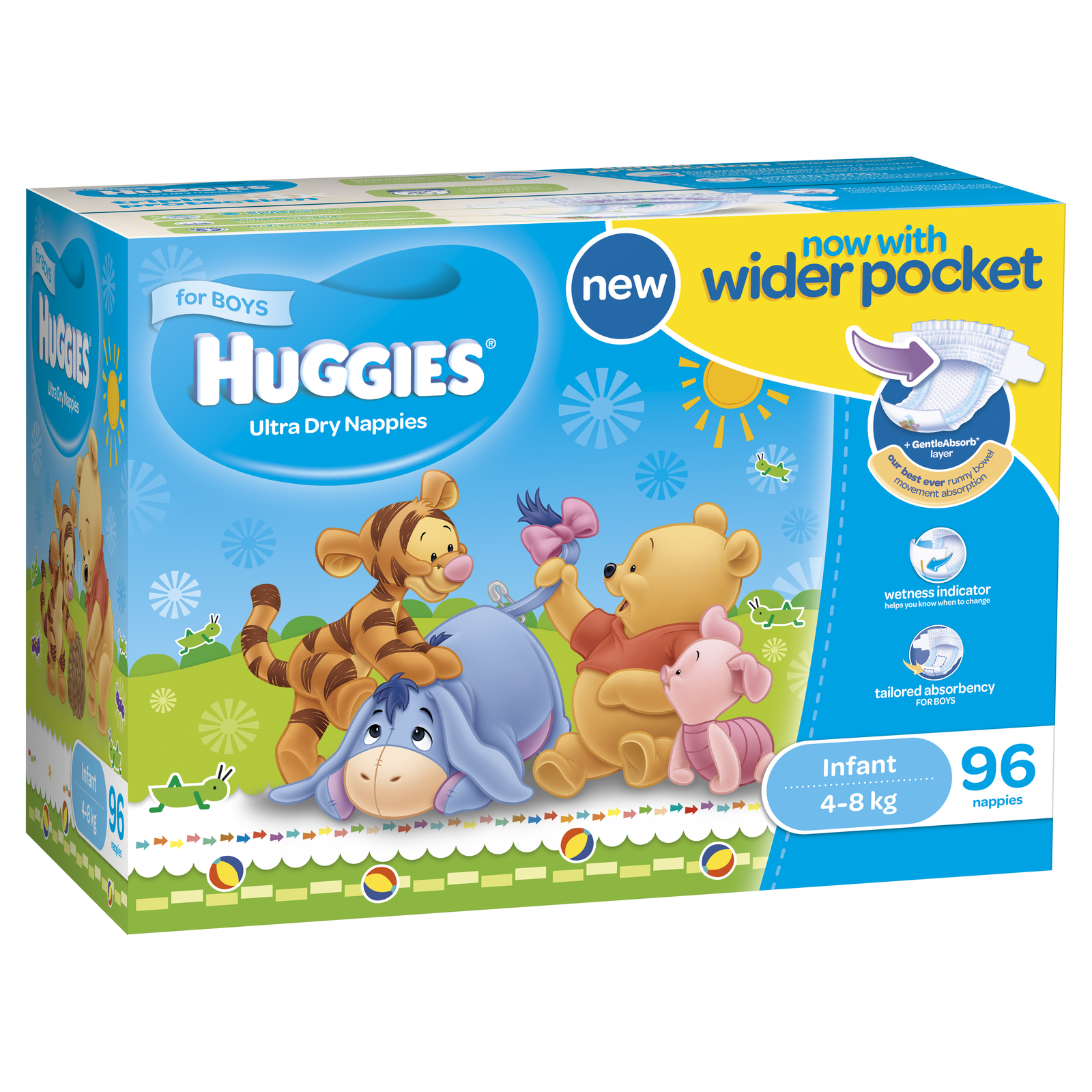 Huggies Ultra Dry Nappies: Jumbo Pack - Infant Boy 4-8kg (96) image