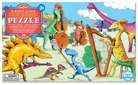 eeBoo: 36-Piece Puzzle - Dinosaurs At Leisure
