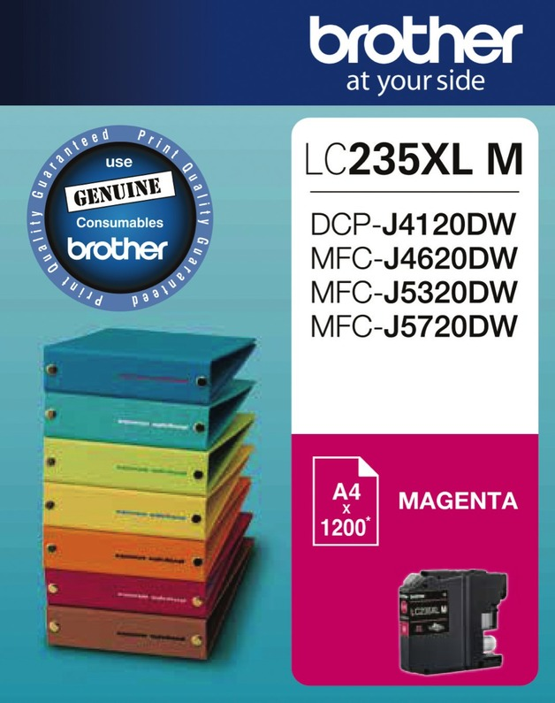 Brother LC-235XLM High Yield Ink Cartridge (Magenta)