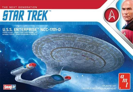 AMT: 1/2500 Star Trek USS Enterprise-D (SNAP KIT)