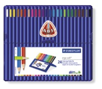 Staedtler - Ergo Soft 157 Triangular Coloured Pencil 24 Pack Wallet