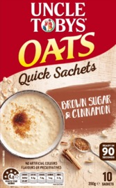 Uncle Tobys Oats (Brown Sugar & Cinnamon, 350g)