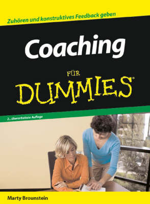 Coaching Fur Dummies by Marty Brounstein image
