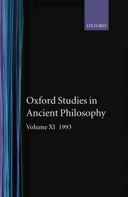 Oxford Studies in Ancient Philosophy: Volume XI: 1993 image