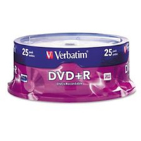 Verbatim DVD+R 4.7GB 25Pk Spindle 16x