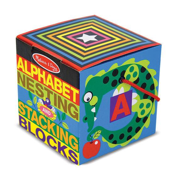 Melissa & Doug: Alphabet Nesting and Stacking Blocks image