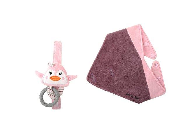Buddy Bib - Pinky Penguin