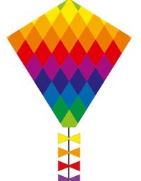 "HQ Kite: Eddy Rainbow Patchwork - 20"" Eco Kite"