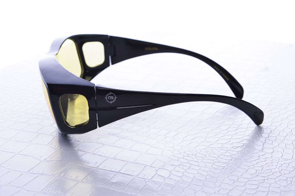 NoScope Golem Gaming Glasses (Rx Compatible) – Onyx Black for PC Games image