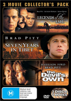 Legends Of The Fall / Seven Years In Tibet / The Devil's Own - 3 Movie Collector's Pack (3 Disc Set) on DVD image