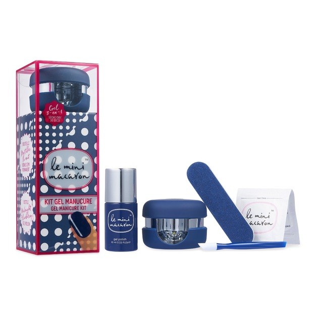 Le Mini Macaron All in One Gel Manicure Kit - Midnight Blueberry