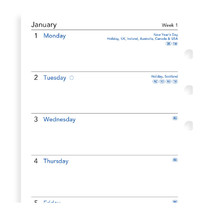 Filofax: Personal 2019 Refill - Week per Page (Unlined)