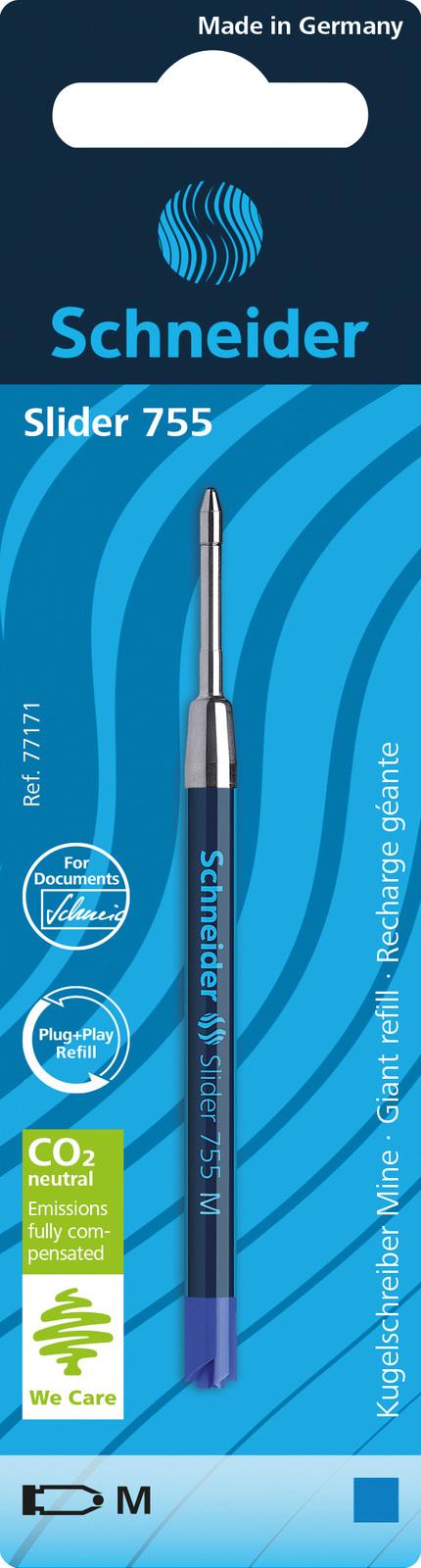 Schneider: Slider 755 Ballpoint Refill - Blue (M) image