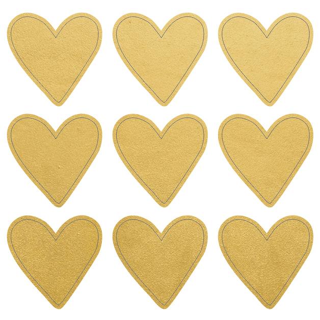 Kaisercraft: Lucky Dip Foil Stickers - Gold Hearts