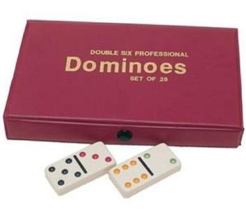 Double Six Dominoes in Vinyl Case