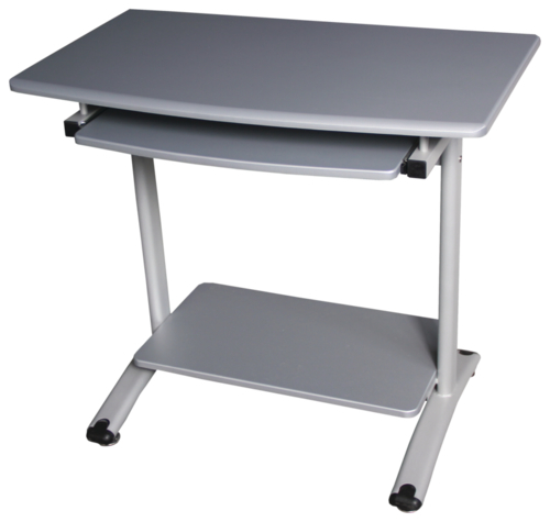 Croxley Computer Desk With Keyboard Shelf (Silver) image