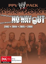 WWE - No Way Out: PPV Pack (4 Disc Box Set) on DVD image