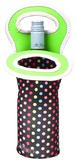 Go Vino Single Bottle Tote - Multi Dots