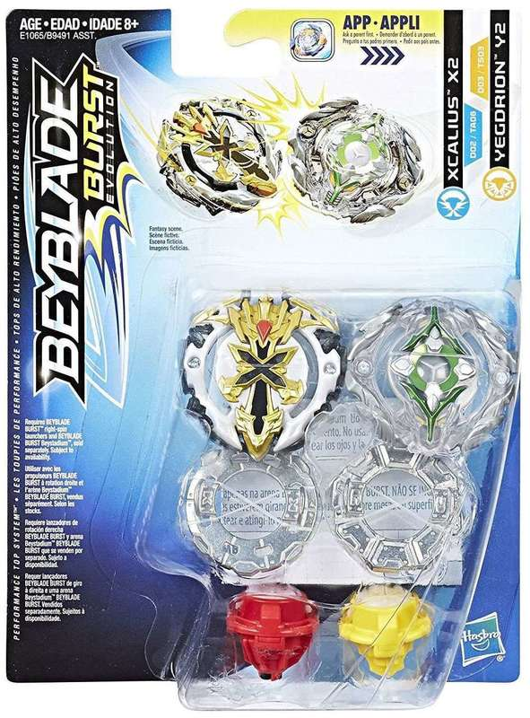 Beyblade Burst Xcalius And Yegdrion Duo Pack Toy At