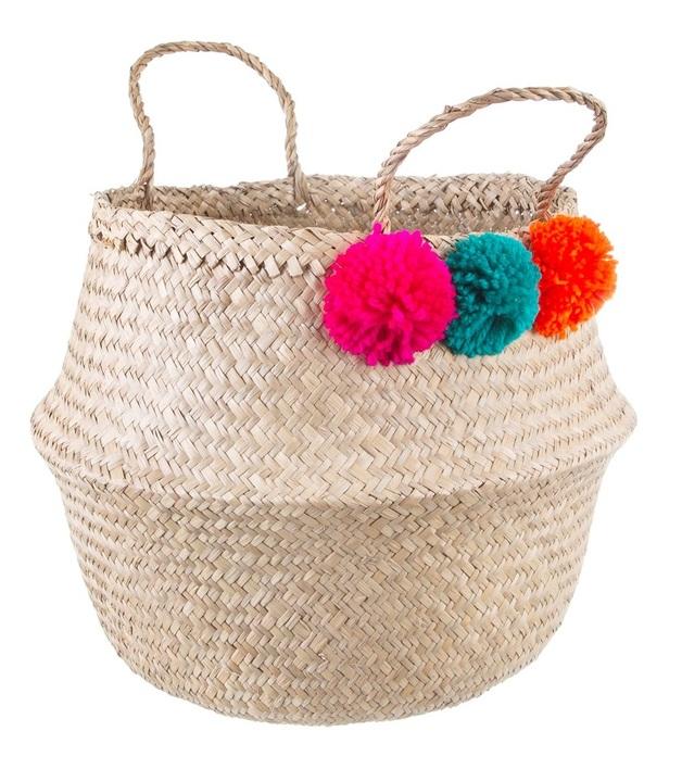 Sass & Belle - Summer Pom Pom Basket