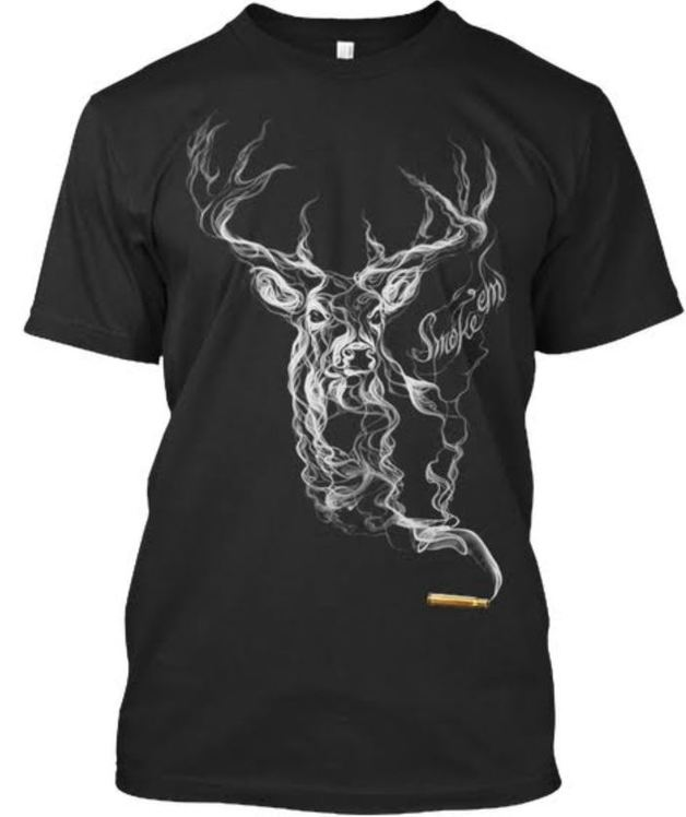 Buck Wear Smoking Deer T-Shirt (2XL)