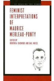 Feminist Interpretations of Maurice Merleau-Ponty image
