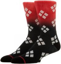 DC Comics: Harley Quinn - Ombre Crew Socks (Size 10-13)