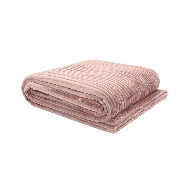 Bambury Rosewater Channel Ultraplush Throw (200 x 150cm)