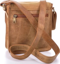 Urban Forest: Little Joe Leather Body Bag - Cognac image