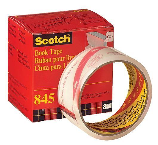 Scotch 845 Transparent Book Repair Tape 76mm x 13.7m