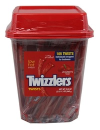 Twizzlers Strawberry Tub - 945g (105 Pieces)