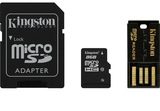 8GB Kingston - MicroSDHC Mobility Kit (Memory Card/SD Adapter/USB reader) (Class 10)