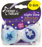 Closer to Nature Night Time Soother 0-6 Months (Star) - 2 Pack
