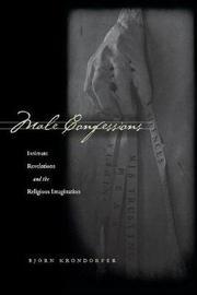 Male Confessions by Bjorn Krondorfer image