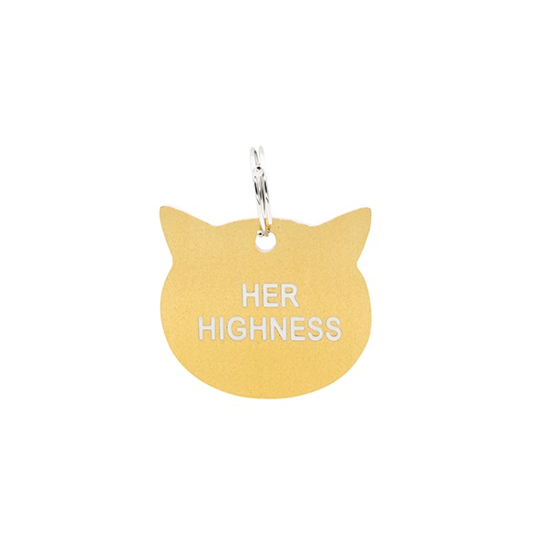Cat Tag: Her Highness (Gold)