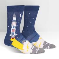 SOCK it to Me: Mens Crew Socks - 3,2,1 Lift Off