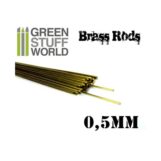 Pinning Brass Rods 0.5mm (5)