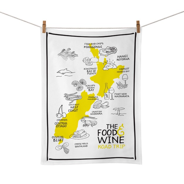 Moana Road: Tea Towel - Food & Wine