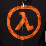 Half Life 2 Lambda Zip-up Hoodie (X-Large)