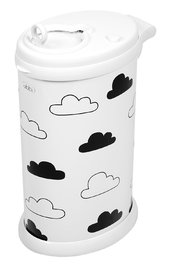 Ubbi Diaper Pail (White Clouds)