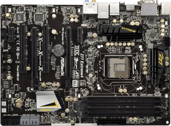 Asrock Z77 Extreme4 LGA 1155 Intel Z77 ATX Motherboard | at