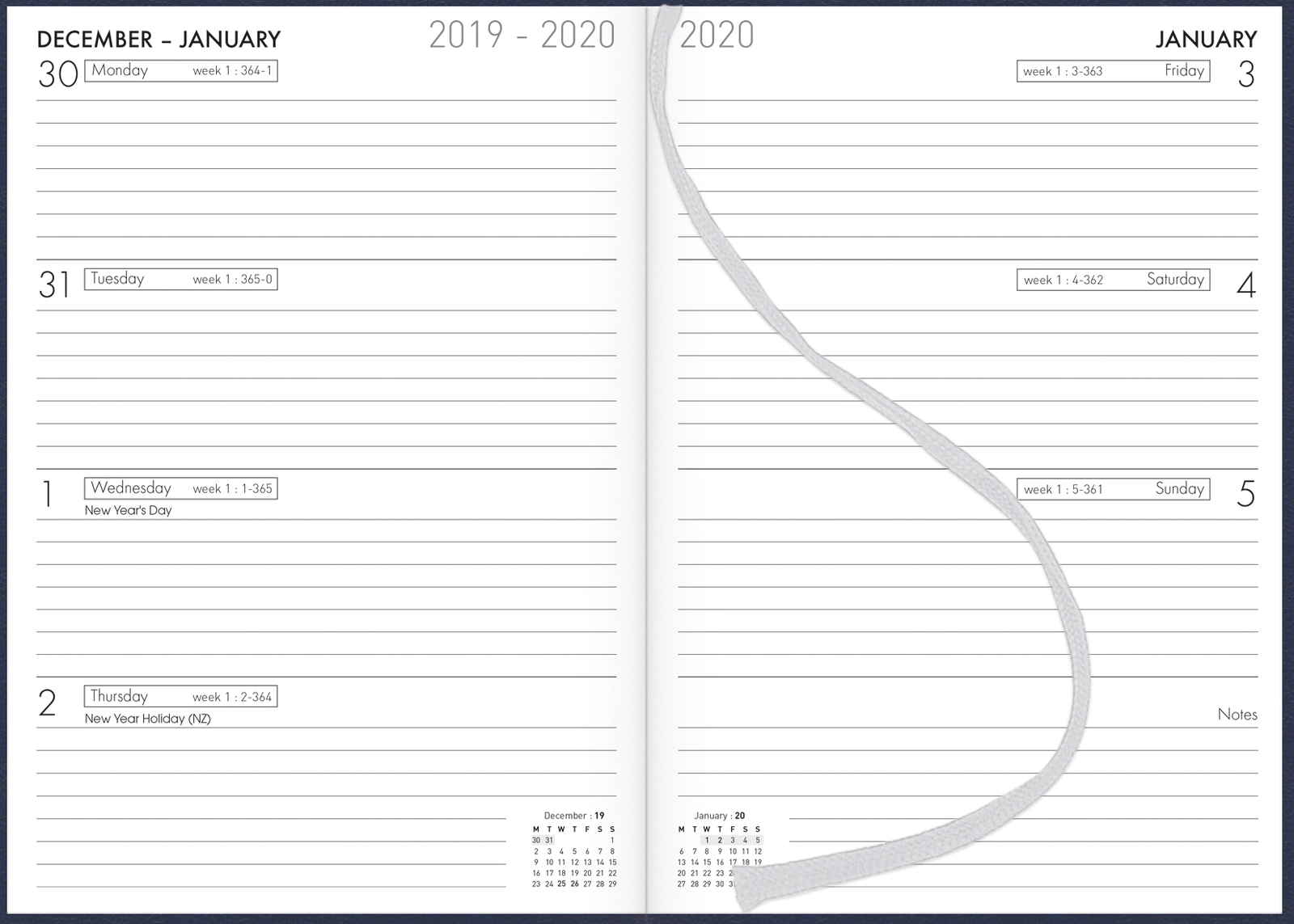 Collins: 2020 Weekly A53 Diary - Navy image